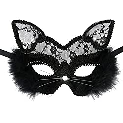 Venetian Masquerade Mask Luxury Sexy Black Cat Lace Mask For Fancy Dress Christmas Halloween Costume Party Girls Women