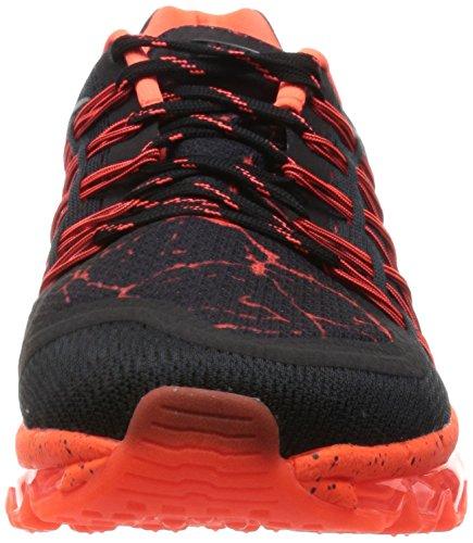 Nike Air Max 2015 Lava (Gs), Zapatillas de Running para Niños, Nero/Arancio Negro / Plateado / Rojo (Black / Mtllc Silver-Ttl Crmsn)