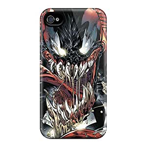 AlissaDubois Iphone 4/4s Perfect Cell-phone Hard Covers Support Personal Customs High-definition Venom Skin [HDQ3658FlJo]