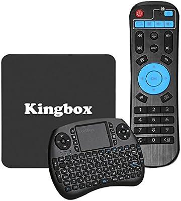 [Pure Version]Kingbox K1 Android TV BOX with Mini Keyboard Android 6 0  1GB+8GB 2 4G Wifi LAN 100M Smart TV Box Support Full HD /H 265 4K 32Bit