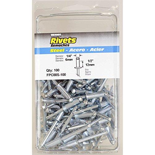 Surebonder FPC88S-100 1/4-inch Steel Long Rivets (100 per box) ()