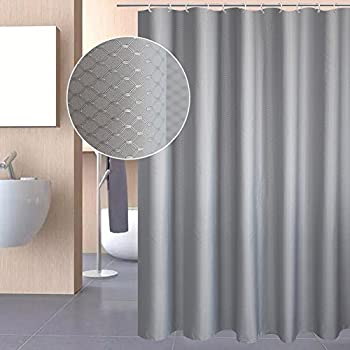 Amazon.com: Aoohome Extra Long Shower Curtain Fabric Bathroom ...