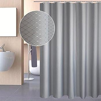 Amazon.com: InterDesign Tuxedo X-Long Shower Curtain, White, 72 ...