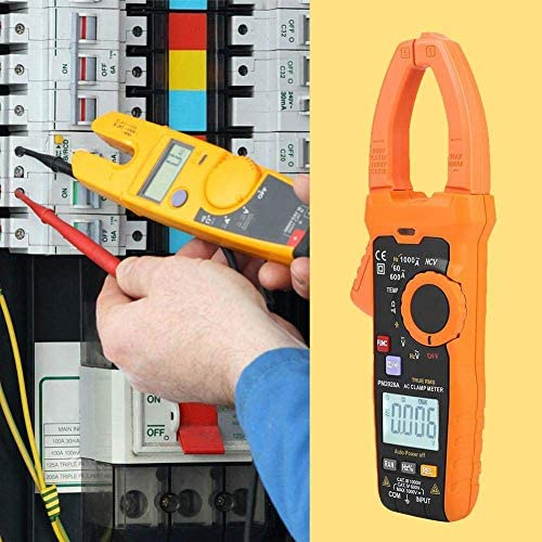 HYY-YY Clamp Digital Multimeter, PM2028A/B 6000 Counts NCV Hz Ohm Capacitance Temp Meter Portable Equipment Industrial Tester(PM2028A)