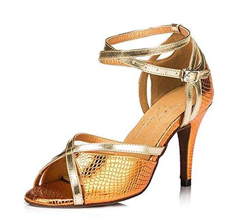 latino Zapatillas 40 talla Ballroom de 8 Taogo gold baile Sandalias a 35 heel Zapatos mujer 5cm de BgnqRFqI