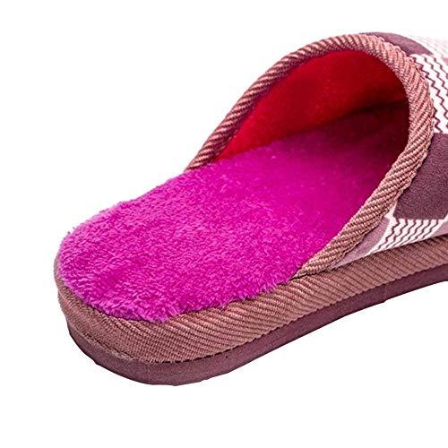 A Chaussures Hiver À Chaudes En Femmes Coton Pantoufles Peluche Maison Fond Hommes Épais Et Automne La Pour wa8xqR0