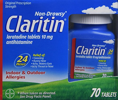 Claritin 24 Hour Non-Drowsy Allergy  Tablets, 10 mg, 70 Count