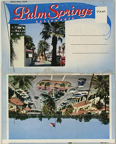 Palm Springs California - 1956 Crocker Souvenir Postcard Folder