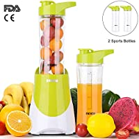 Ekich Travel Juicer Blender with Two Portable Bottles