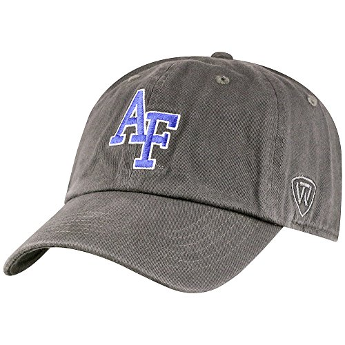 Top of the World Air Force Falcons Men's Hat Icon, Charcoal, Adjustable (Air Falcons Force Charcoal)