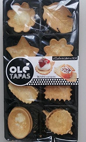 Tapas assortment canape to fill pastry shells 16 units for Canape pastry shells