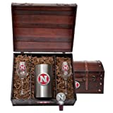 Nebraska Cornhuskers Team Logo Wine Gift Set