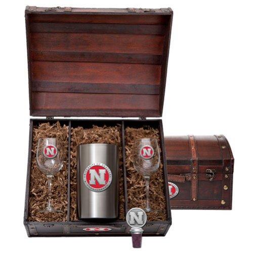 Nebraska Cornhuskers Team Logo Wine Gift Set by Heritage Pewter (Image #1)