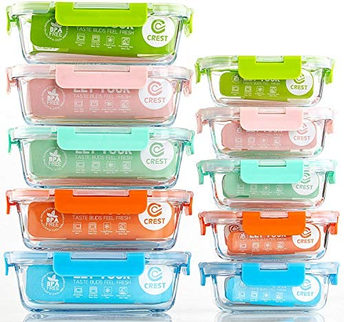 10 Pack Storage Containers Colors Kitchen product image