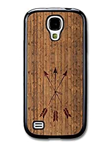 Hipster Arrows Crossed on Cool Wood case for Samsung Galaxy S4 mini