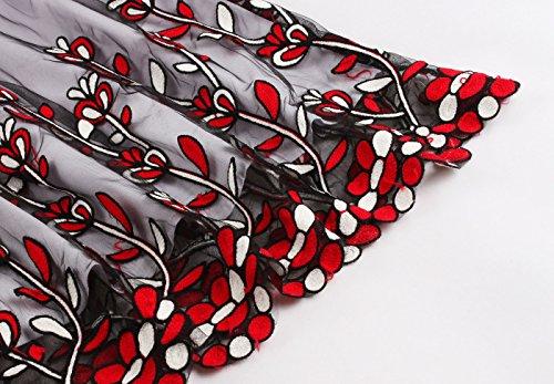 Fiesta Vestidos Mujeres de Encaje Honor de Las Las S de Fiesta de 50s Vestidos XXXXL de Muchachas Dama Baile de de Retro Noche Red02 Cortos de VERNASSA de Vestidos Black Az7wYz
