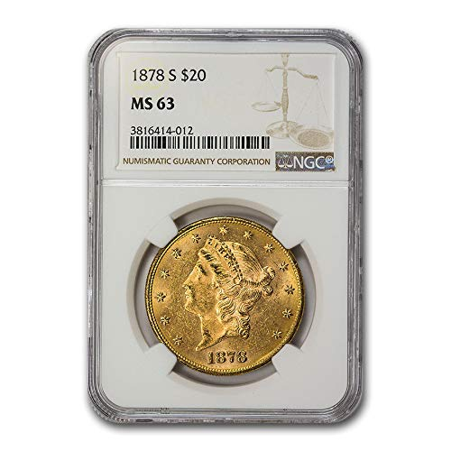 1878 S $20 Liberty Gold Double Eagle MS-63 NGC G$20 MS-63 NGC
