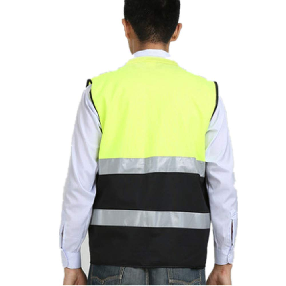 Reflective Safety Jacket No Sleeve for Work Outdoor Activity (Color : Green, Size : L) by Lizilan (Image #3)