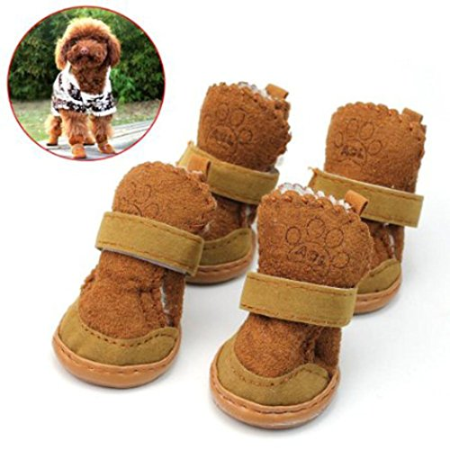 Malloom Dog Cute Fancy Dress Up Pet Dog Chihuahua Boots Puppy Winter Shoes Wa... (Dress Up Dogs)