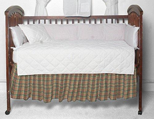 (Patch Magic Multi Brown and Tan Plaid Fabric Dust Ruffle Crib)
