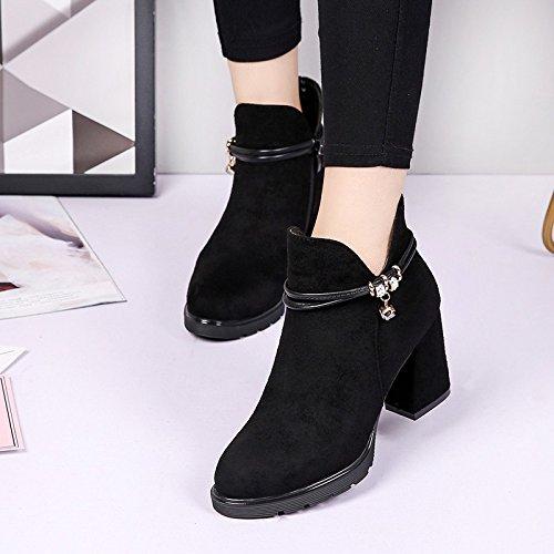 Di Black Harajuku spesso Stile Stivali Con Combaciano Stivaletti Duri Khskx Degli Nuovi Britannico Tacchi Scarpe wHIaTqpc