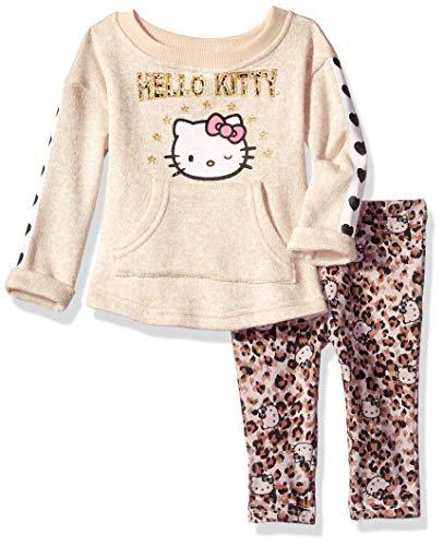Hello Kitty Baby Girls 2 Piece Legging Set, Oatmeal, 12 Months