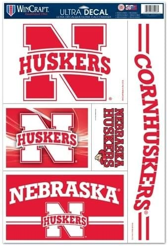 WinCraft Nebraska Cornhuskers 11 x 17 Car Window Cling Decal Huskers 024268