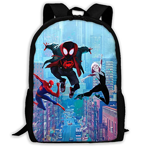 Spi-der Man School Backpack Lunch Bag Set School Bag Boys Girls Bookbag