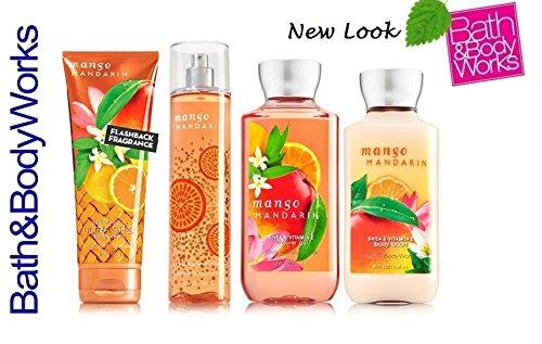 - Bath & Body Works MANGO MANDARIN Gift Set - Body Lotion - Body Cream - Fragrance Mist & Shower Gel