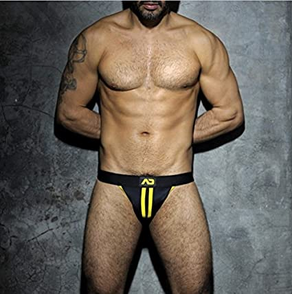 Addicted ADF13 STRIPE FETISH JOCKSTRAP AMARILLO (l): Amazon.es: Ropa y accesorios