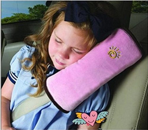 4 Colors Baby Pillow Car Auto Safety Seat Belt Harness Shoulder Pad Cover Children Protection Covers Cushion Support Pillow (Pink)