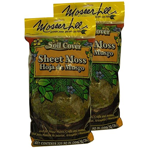 Mosser Lee Green Sheet Moss 325 Sq. In. (2 PACK) (325 Sq In Sheet Moss Soil Cover)