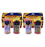 NUK Gerber Graduates Curious George Insulated Hard Spout Sippy Cup, 9-Ounce, 2 Count, (Pack of 2)