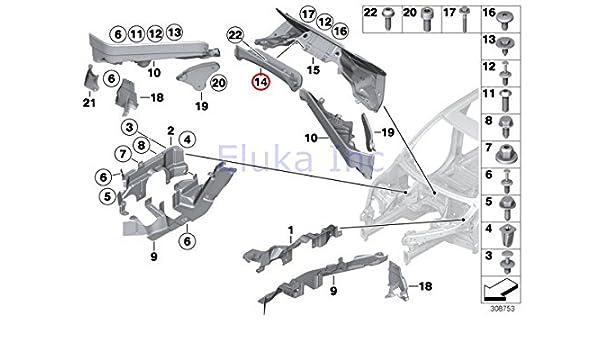 Amazon.com: BMW Genuine Engine Compartment Panel (Partition) Rear Center  Upper X5 3.0si X5 3.5d X5 4.8i X5 M X5 35dX X5 35iX X5 50iX X6 35iX X6 50iX  X6 M Hybrid X6:Amazon.com