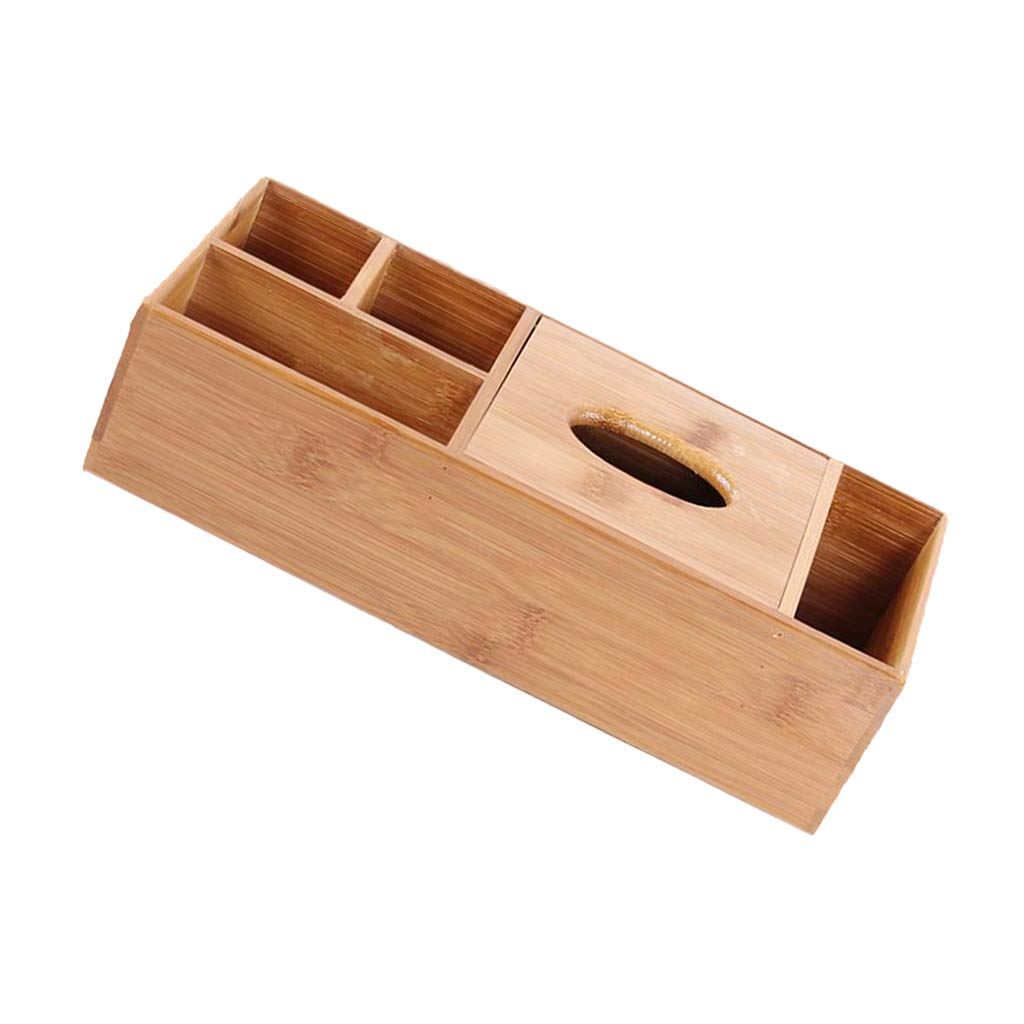 Fernbedienung Baoblaze Holz Taschentuchbox Kosmetikt/ücherbox Taschentuchspender f/ür Stift 2 Gitter Smartphone