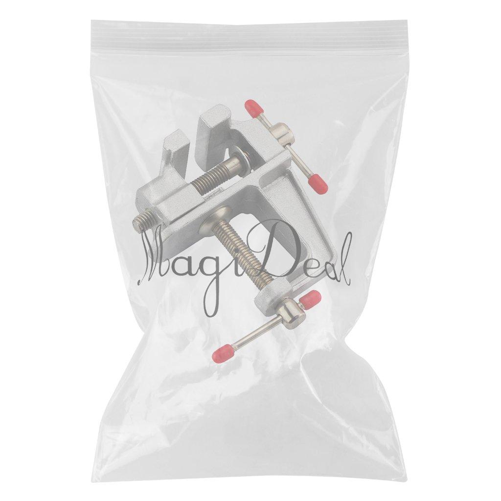 Noir 3,6 pouces MagiDeal Mini Etau de Table Stationnaire Bijoux DIY Miniature Vice en Aluminium
