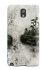 New Two Islands On A Wall Tpu Case Cover, Anti-scratch Ernest Burke Phone Case For Galaxy Note 3
