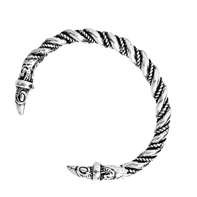 Amazon Com Fityle Twisted Cable Wire Viking Cuff Bangle Bracelet