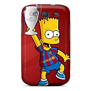 Perfect Fit GXI8IClL Barcelona Bart Case For Galaxy - S3