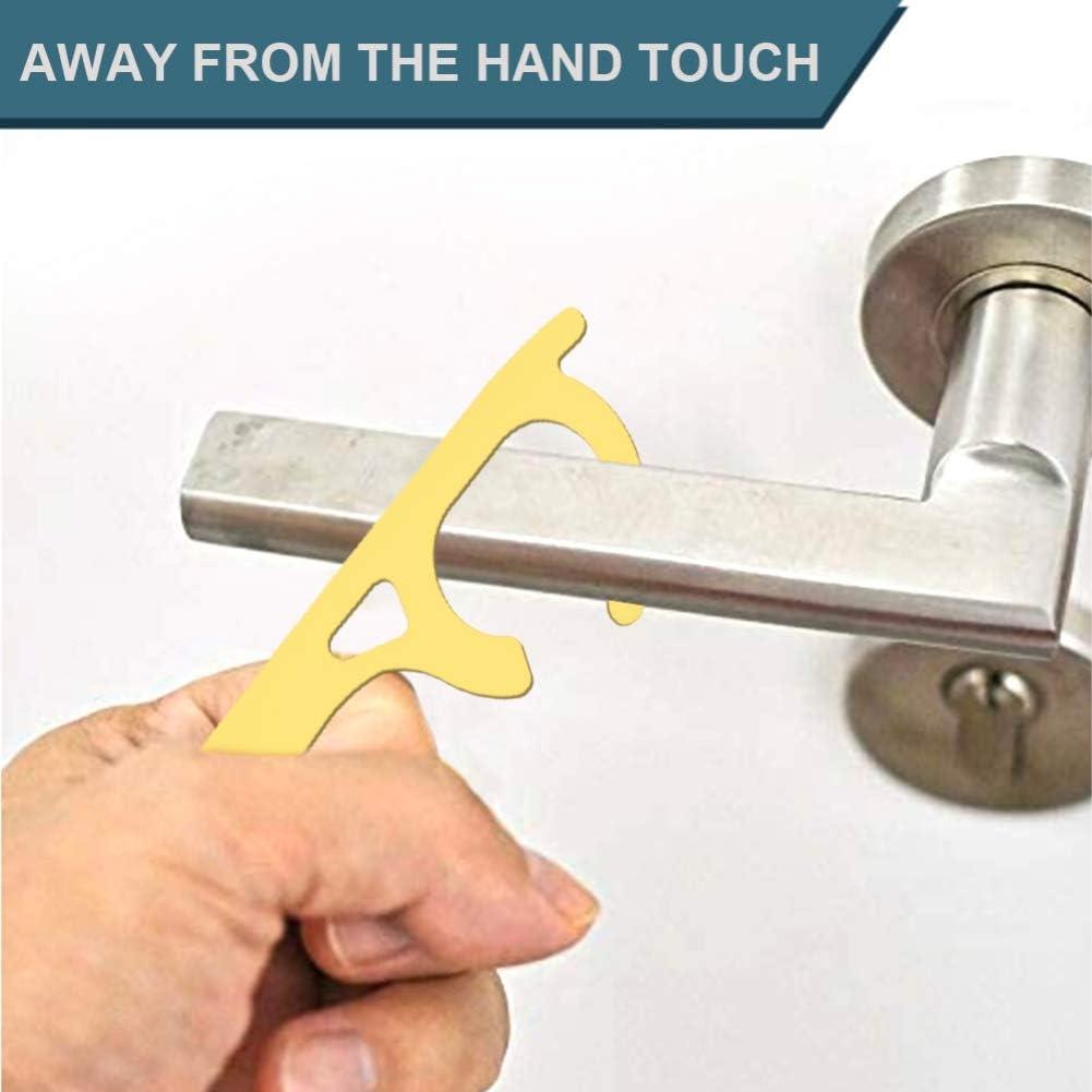 Abridor de puerta de seguridad sin contacto Aislamiento de protecci/ón de seguridad Abridor de puerta con llave de lat/ón 4 estilos de Handfly