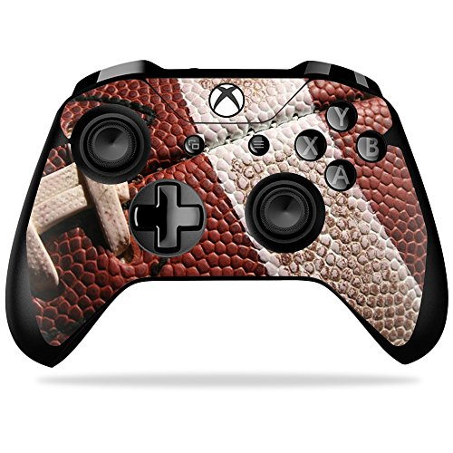 MightySkins Skin for Microsoft Xbox One X Controller - Football | Protective, Durable, and Unique Vinyl Decal wrap Cover | Easy to Apply, Remove, and Change Styles | Made in The USA ()