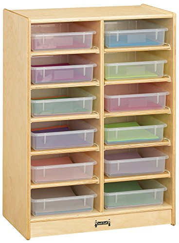 Jonti-Craft 06130JC 12 Paper-Tray Mobile Storage with Clear Paper-Trays