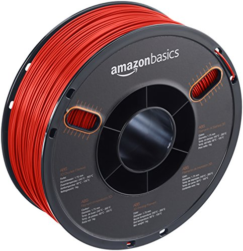 AmazonBasics ABS 3D Printer Filament, 1.75mm, Red, for sale  Delivered anywhere in Canada