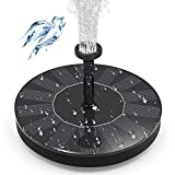 CPPSLEE Solar Bird Bath Fountain Pump Solar Fountain - Outdoor Watering BirdBath Submersible Pump for Garden and Patio - Free Standing Water Fountain Pump Kit