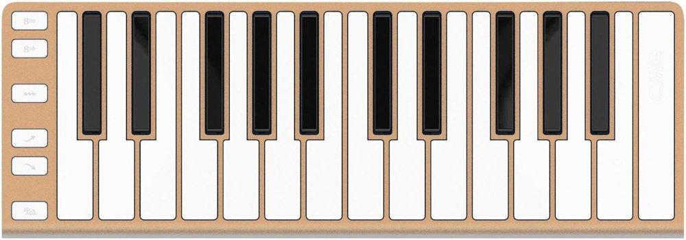 CME Xkey 25-Key MIDI Portable Mobile Musical Keyboard - Champagne