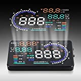 "Best Heads Up Displays - Acouto 5.5"" HUD Car Head Up Display OBD Review"