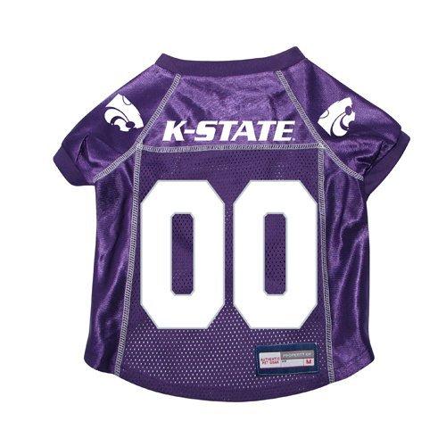 - NCAA Kansas State Wildcats Premium Pet Dog Jersey w/Name Tag Large