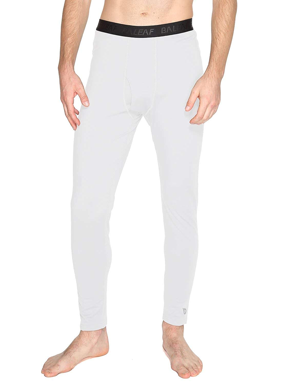 Baleaf Men's Heavyweight Thermal Underwear Pants Fleece Lined Long Johns Baselayer Bottom