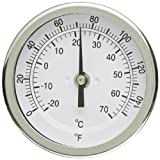 """PIC Gauge B3B6-EE 3"""" Dial Size, 0/150°F and -18/66°C, 6'' Stem Length, Back Angle Connection, Stainless Steel Case, 316 Stainless Steel Stem Bimetal Thermometer"""