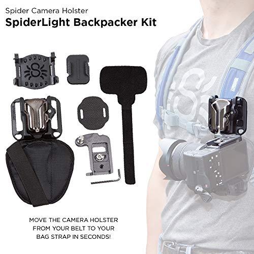 Spider Holster - SpiderLight Backpacker Kit - Carry Your mirrorless Camera on Your Belt or Bag Strap!
